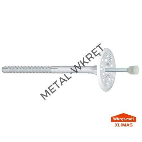 LFM 10x220 Kołki do styropianu i wełny-metal, długa strefa rozporu-100szt.